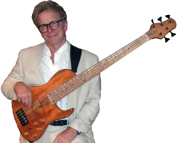 Bernie Goodfellow with a GB Merlin © 5 in English Yew with Birdseye Maple neck