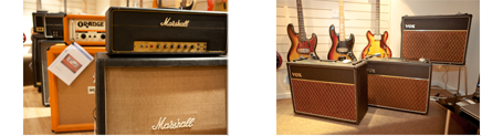 The Brighton Bassment at GB Guitars - collection of 60s-80s guitars, basses and amplification.